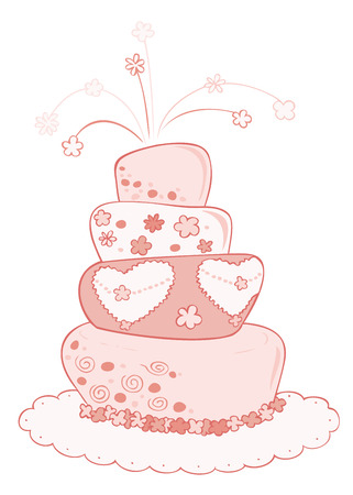 Wedding cake. Vector