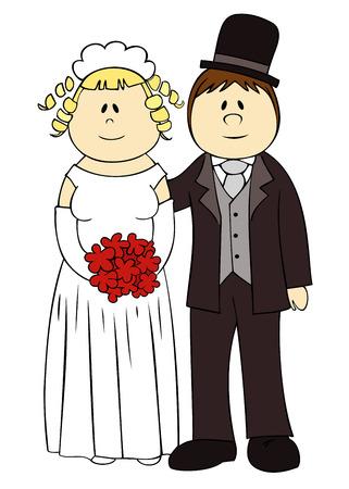 tailcoat: Wedding couple.