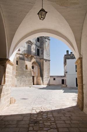 martyr: St. Vito martyr Abbey. Polignano a Mare. Apulia. Stock Photo