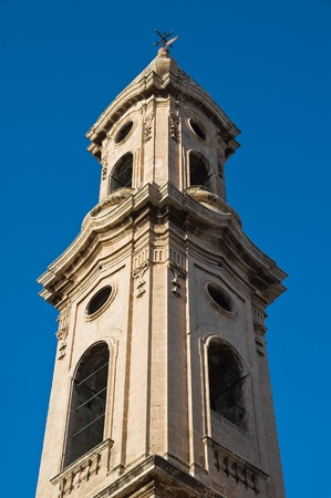 ss: SS. Giuseppe ed Anna belltower church. Monopoli. Apulia. Stock Photo