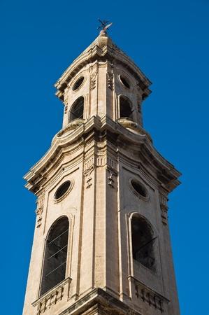 ed: SS. Giuseppe ed Anna belltower church. Monopoli. Apulia. Stock Photo