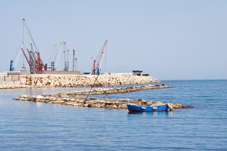Panoramic view of Bari seaport. Apulia. photo