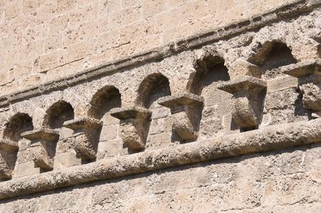 swabian: Detail of a Norman-swabian castle. Stock Photo