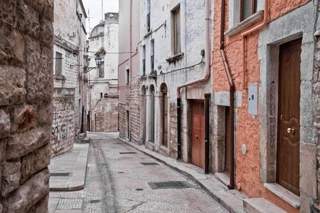 wood panelled: Alleyway. Andria. Apulia.