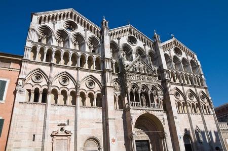 cusp: St. Giorgio Basilica Cathedral. Ferrara. Emilia-Romagna. Italy.