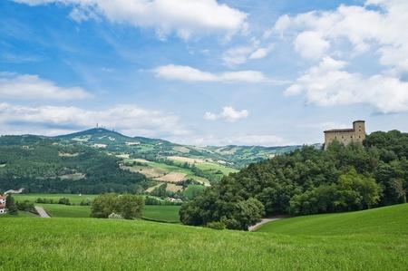emilia: Castle of Pellegrino Parmense. Emilia-Romagna. Italy.