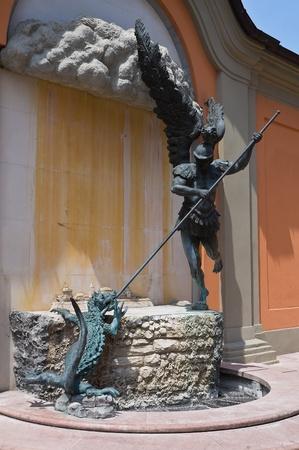 Bronze statue. Cento. Emilia-Romagna. Italy. photo