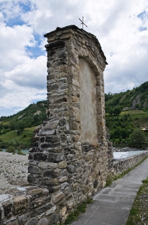 Hunchback Bridge. Bobbio. Emilia-Romagna. Italy. photo