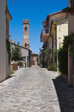Alleyway. Santarcangelo of Romagna. Emilia-Romagna. Italy. photo