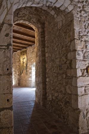 monte santangelo: Interior Castle of Monte SantAngelo. Puglia. Italy.