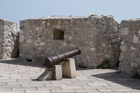 monte santangelo: Castle of Monte SantAngelo. Puglia. Italy. Stock Photo