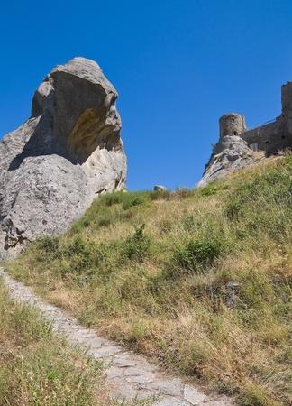 norman castle: Saracenic Fortress. Pietrapertosa. Basilicata. Italy. Stock Photo