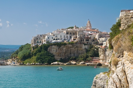 foggia: Panoramic view of Vieste. Puglia. Italy. Stock Photo