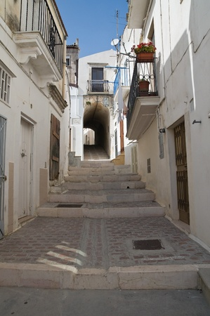 Alleyway. Monte Santangelo. Puglia. Italy. photo