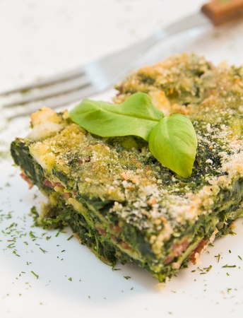 Spinach pie. photo