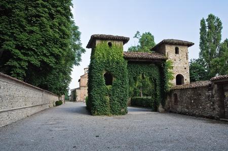 View of Grazzano Visconti. Emilia-Romagna. Italy.