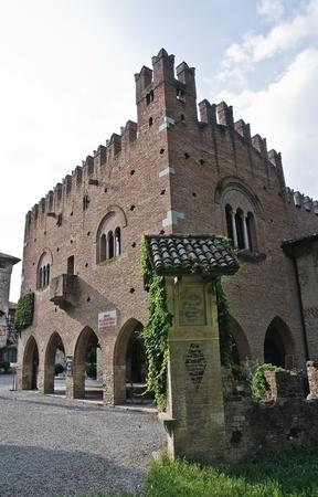 Institution Palace. Grazzano Visconti. Emilia-Romagna. Italy.