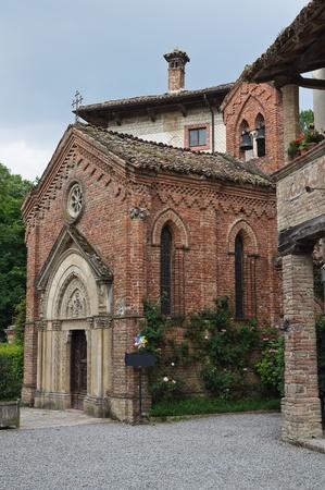 oratory: Gothic church. Grazzano Visconti. Emilia-Romagna. Italy. Stock Photo