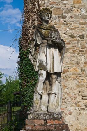 Marble statue. Grazzano Visconti. Emilia-Romagna. Italy. Archivio Fotografico