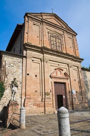 SS Cosma and Damiano Church. Grazzano Visconti. Emilia-Romagna. Archivio Fotografico