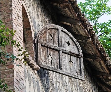 Typical house. Grazzano Visconti. Emilia-Romagna. Italy.