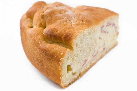 doughy: Ricotta cheese calzone. Stock Photo