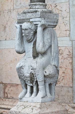 telamon: Cathedral. Piacenza. Emilia-Romagna. Italy.