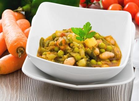 potage: Vegetable soup.