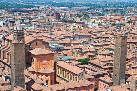 Panoramic view of Bologna. Emilia-Romagna. Italy. photo