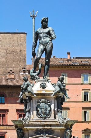 Fountain of Neptune. Bologna. Emilia-Romagna. Italy. photo