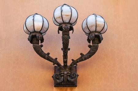 characteristic: Characteristic wall lantern.