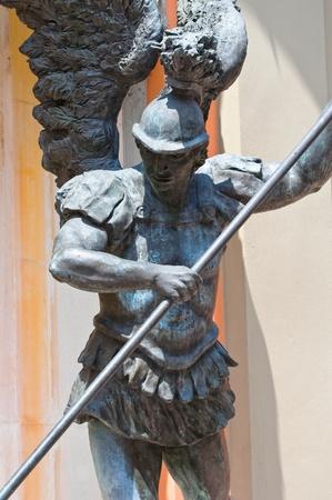 Statue of Archangel Michael. Cento. Emilia-Romagna. Italy. photo