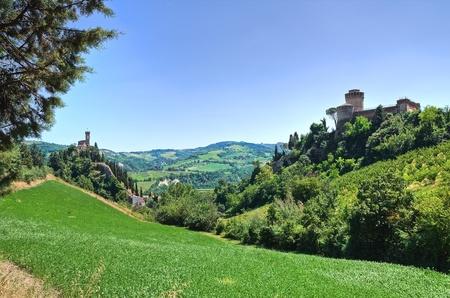 emilia: Panoramic view of Brisighella. Emilia-Romagna. Italy.