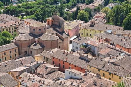 ravenna: Panoramic view of Brisighella. Emilia-Romagna. Italy.