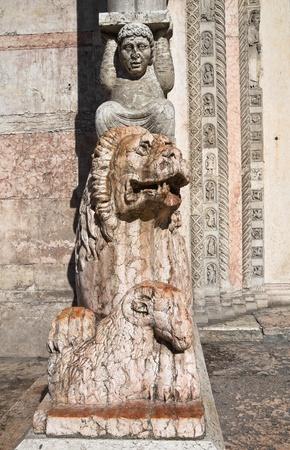 telamon: Cathedral of St. George. Ferrara. Emilia-Romagna. Italy.