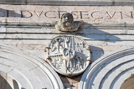 Belltower Cathedral of Ferrara. Emilia-Romagna. Italy. photo