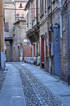 Alleyway. Ferrara. Emilia-Romagna. Italy. photo