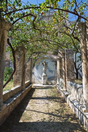 Mediterranean garden. Castle of Grottaglie. Puglia. Italy. Stock Photo - 12394764