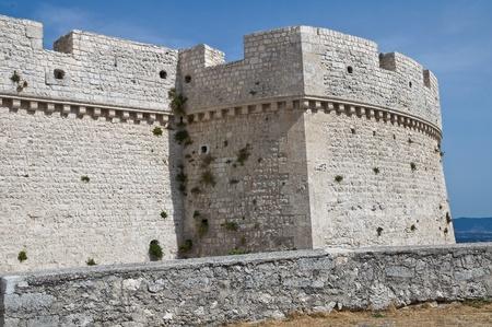 norman castle: Castle of Monte Santangelo  Puglia  Italy  Editorial