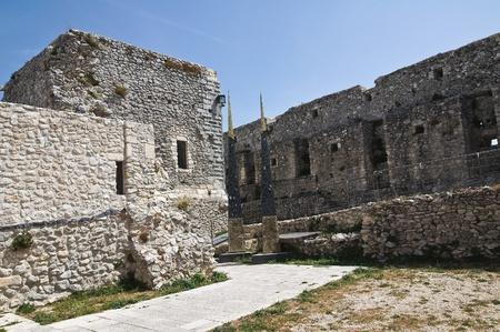 monte sant angelo: Castle of Monte Santangelo  Puglia  Italy  Editorial