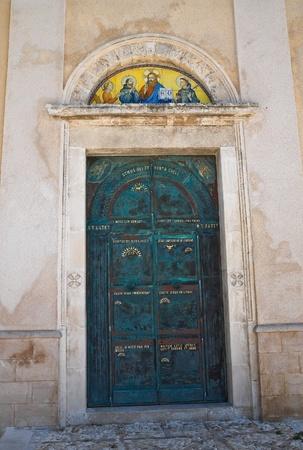 foggia: Church of St. Francesco. Vieste. Puglia. Italy.