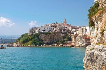 Panoramic view of Vieste. Puglia. Italy. Imagens