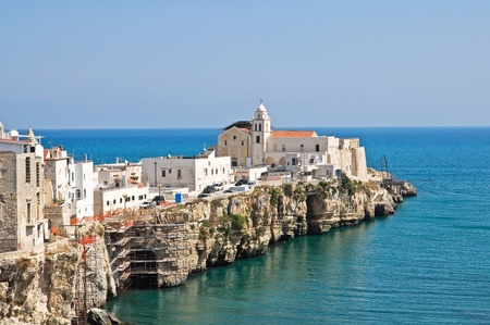 Panoramic view of Vieste. Puglia. Italy. Stock Photo