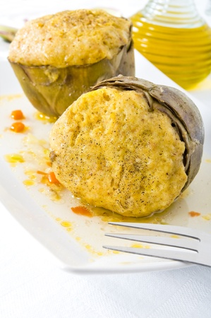 Stuffed artichokes  photo