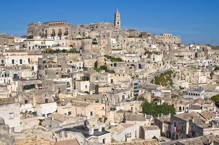 sassi: Panoramic view of Matera. Basilicata. Italy.