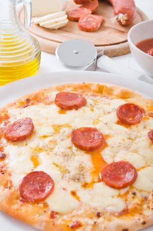 Pepperoni Pizza. photo