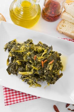 stewed: Stewed turnip greens.