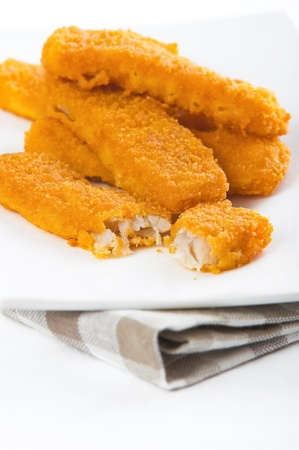 Fried fish sticks  Bastoncini di pesce  photo