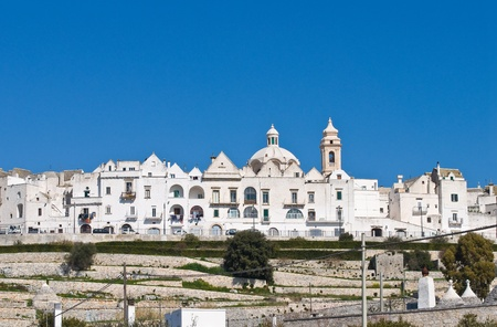 Panoramic view of Locorotondo  Puglia  Italy  photo