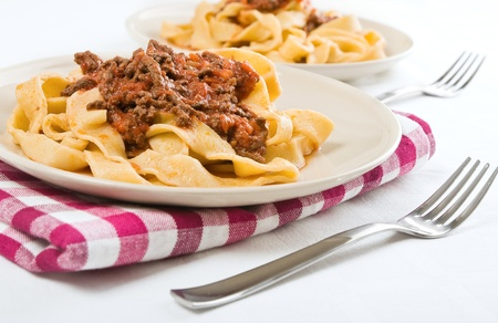 Tagliatelle with Bolognese Sauce   Imagens